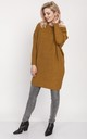 Cold Shoulder Jumper Dress in Mustard by MKM Knitwear Design