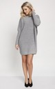 Cold Shoulder Jumper Dress in Grey by MKM Knitwear Design