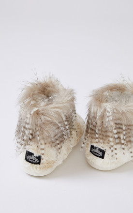 Brandi Bootie Slippers in Champagne by Pretty You London