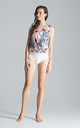 Sleeveless Faux Wrap Bodysuit in Mixed Floral Print by FIGL