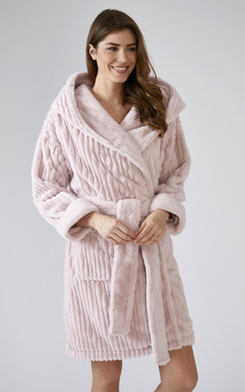 Cloud Dressing Gown in Pink by Pretty You London