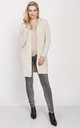 Cardigan with a hood - beige by MKM Knitwear Design