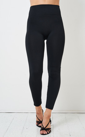 Black High Waist Stretch Leggings by love frontrow Product photo