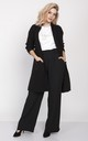 Long Two Pocket Knitted Cardigan - black by MKM Knitwear Design