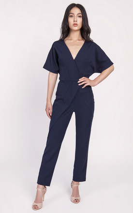Kimono Sleeve Jumpsuit in Navy by Lanti