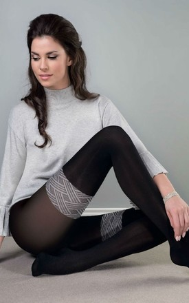 60 Denier Tights in Black and Grey by BB Lingerie