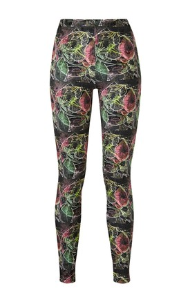 Ve Ve Velour High Waisted Leggings In Dark Fruitage Print by COCOOVE Product photo