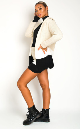 Jaz Knitted Jumper & Shorts Co-ord in Beige by IKRUSH