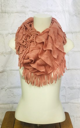 Pink Ruffle Snood Scarf by Pink Lemonade Boutique Product photo