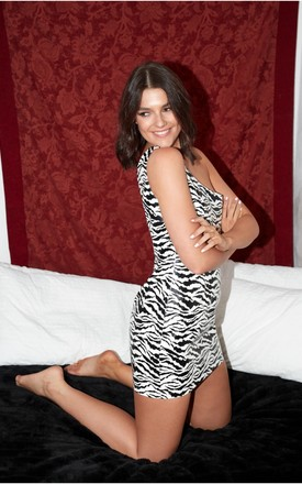 Concrete Jungle One Shoulder Mini Dress In Zebra Print by The Silk Lemon Product photo