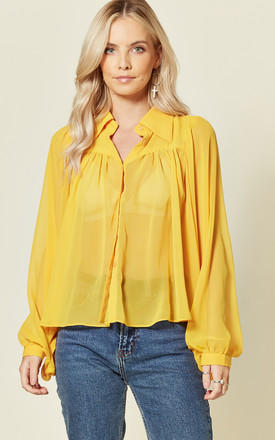 Sophie Summer Yellow Blouse With Puffy Sleeves by Bright & Beautiful Product photo