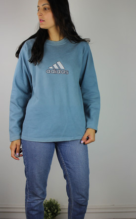 Vintage Adidas Sweatshirt With Logo In Light Blue by Re:dream Vintage Product photo