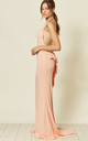 DREAM BACKLESS FISHTAIL MAXI DRESS IN CORAL by Nazz Collection