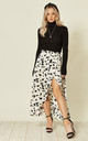 Wrap Skirt In Monochrome Print by Oeuvre