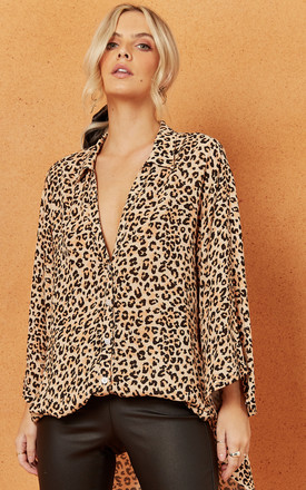 Leopard Feline Oversized Shirt by Charlie Holiday Product photo