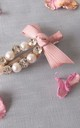 Pearl Crystal and Pink Bow Hair Clip by Olivia Divine Jewellery
