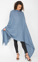 Shoreditch Merino Wool Shawl & Oversize Scarf Jeans Blue 100 x 200cm by likemary