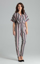 Kimono Sleeve Jumpsuit in Mixed Stripe by LENITIF