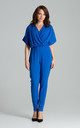 Kimono Sleeve Jumpsuit in Sapphire Blue by LENITIF