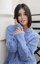 Cable Knit Jumper in Blue by MOE