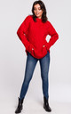 Cable Knit Jumper in Red by MOE
