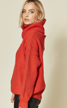 KLAUDIA CHUNKY ROLL NECK JUMPER IN ORANGE by Blue Vanilla