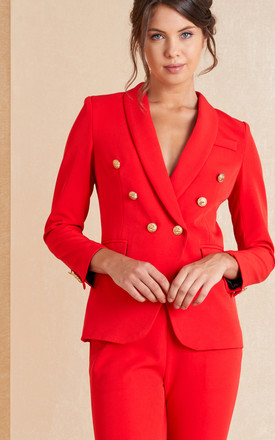 Red Two Piece Suit | Blazer And Trousers by April & Alex Product photo