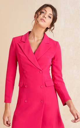 Long Sleeve Mini Blazer Dress In Pink by April & Alex Product photo