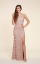 Holly Pink Sequin Backless Maxi Dress by Honor Gold