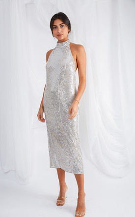 Raleigh Halterneck Dress   Sequin by Pretty Lavish Product photo