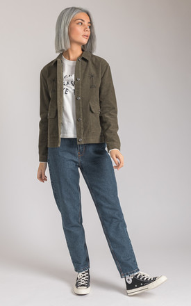 Palms Corduroy Mechanic Jacket In Green by P&Co Product photo