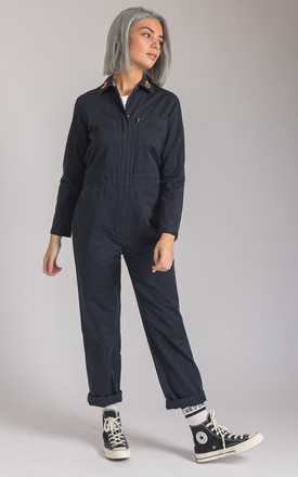 Wild Days Overall Jumpsuit In Navy by P&Co Product photo