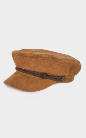 Faux Suede Engineer Cap In Brown by P&Co Product photo
