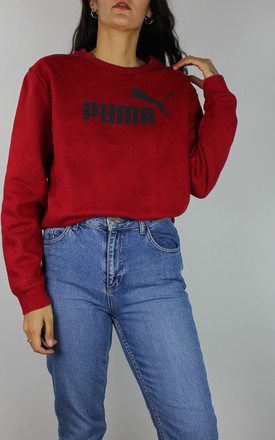 Vintage Puma Sweatshirt With Logo In Red by Re:dream Vintage Product photo