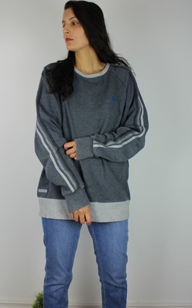 Vintage Adidas Striped Sweatshirt In Muted Blue by Re:dream Vintage Product photo