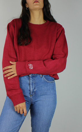 Vintage Nike Logo Sweatshirt In Red by Re:dream Vintage Product photo