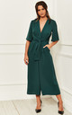 Exclusive Kimono Knot Top Culotte Jumpsuit In Green by Bella and Blue
