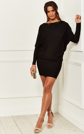 Black Batwing Dress by Bella and Blue