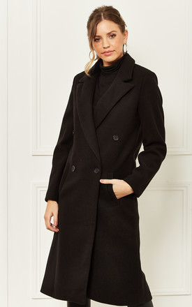 Longline Coat In Black by Bella and Blue Product photo