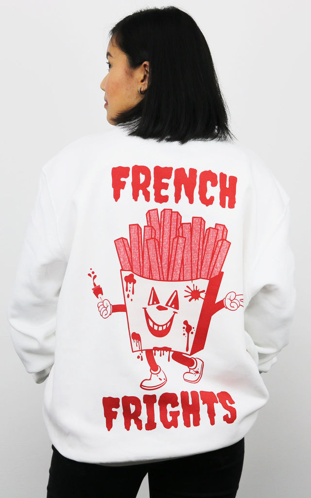 French Frights Women's White Sweatshirt by Batch1