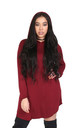 Chloe Oversized Sweater Dress in Wine Red by Oops Fashion