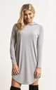 Chloe Oversized Long Sleeve Sweater Dress in Grey by Oops Fashion