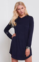 Chloe Oversized Long Sleeve Sweater Dress in Navy by Oops Fashion