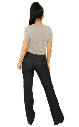 Indigo Low Rise Bootcut Jeans by Glamour Outfitters
