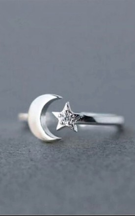 Sterling Silver Plated Nights Sky Midi Ring by Collections by Hayley