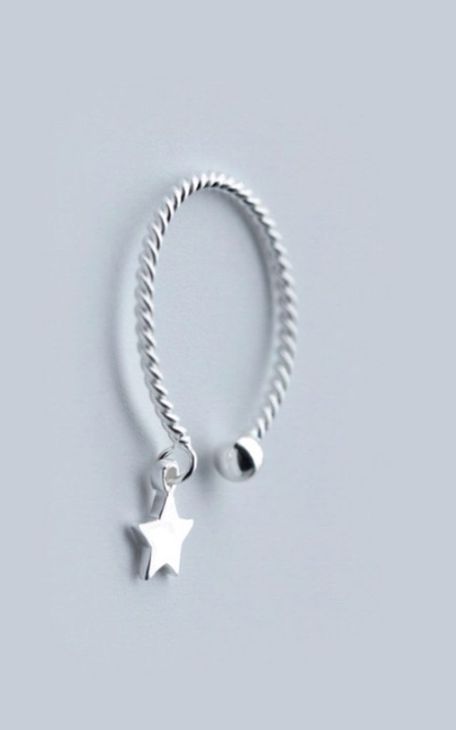 Sterling Silver Catch A Star Midi Ring by Collections by Hayley