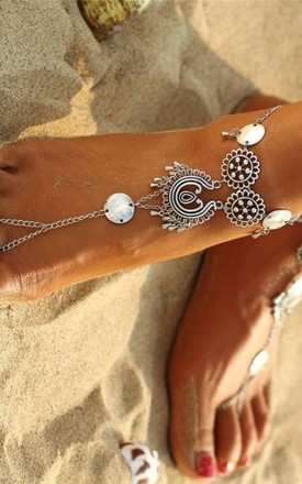 Antique Silver Sunset Anklet by Collections by Hayley