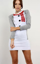 Christmas Jumper Dress In Grey Snowman by Oops Fashion