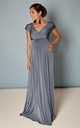 Francesca Maternity Maxi Bridesmaid Dress in Blue Grey by Tiffany Rose Maternity
