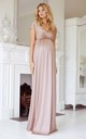 Francesca Maternity Maxi Bridesmaid Dress in Blush Pink by Tiffany Rose Maternity
